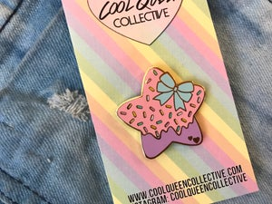 Image of Star Bow Sprinkles Enamel Pin