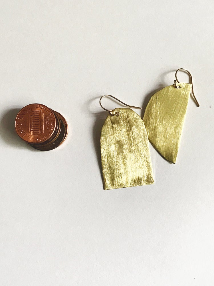 Image of MOON & TOMB EARRINGS