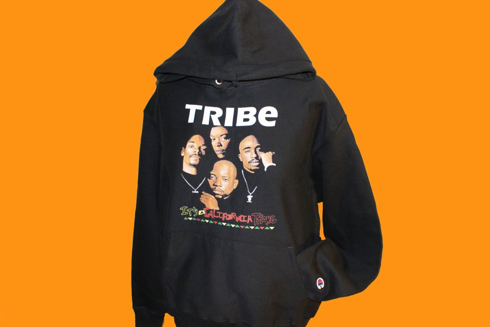 "Image of DEATH ROW's FINEST ""TRIBE"" (CHAMPION) [4EV HOODIE]"