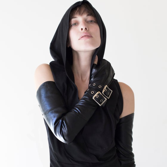 Image of L'NAAN vegan leather full length gloves
