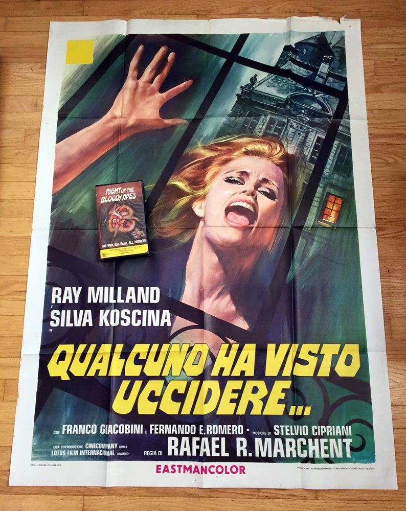 Image of 1975 STUDENT CONNECTION aka WITNESS TO MURDER Original Italian One Panel Movie Poster