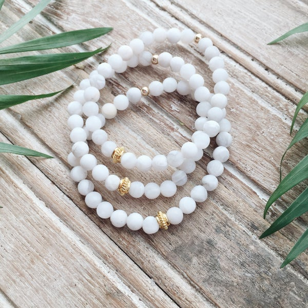 Image of White Bracelet Trio