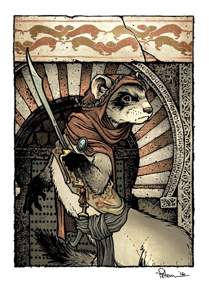 Image of Ericebon Ferret Print Matted 8x10
