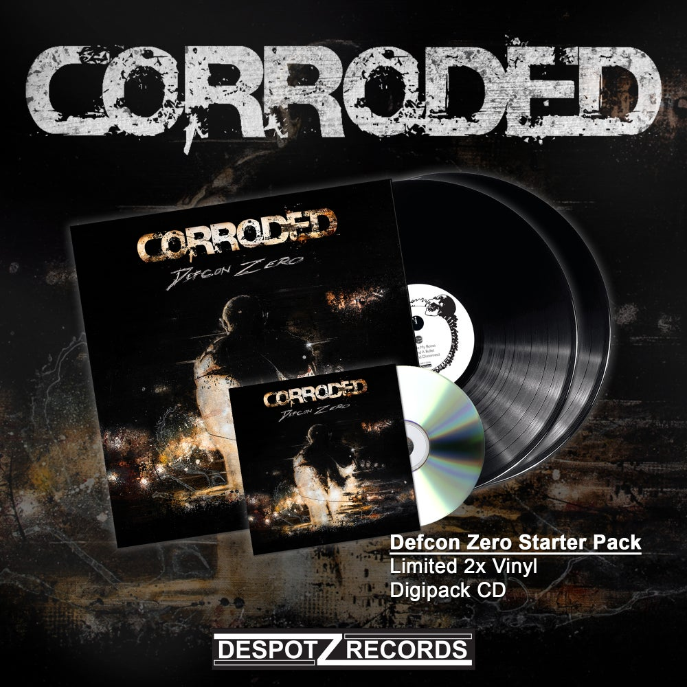 Image of Corroded - Defcon Zero Starter Pack (Limited 2x Vinyl, Digipack CD)