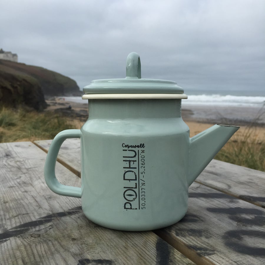 Image of POLDHU Vintage Tea/Coffee Pot - PASTEL GREEN