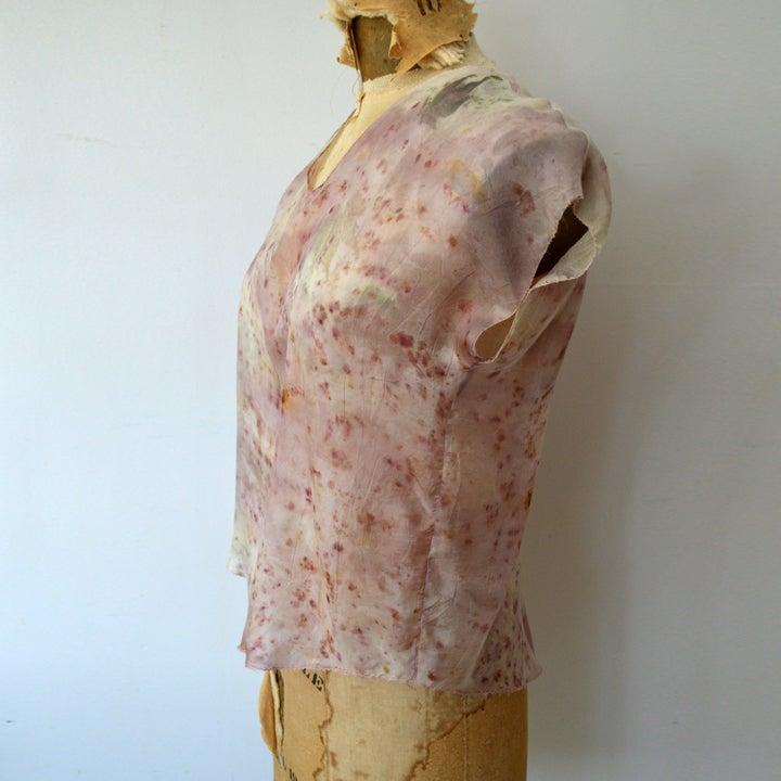 Image of eco print tissue tee