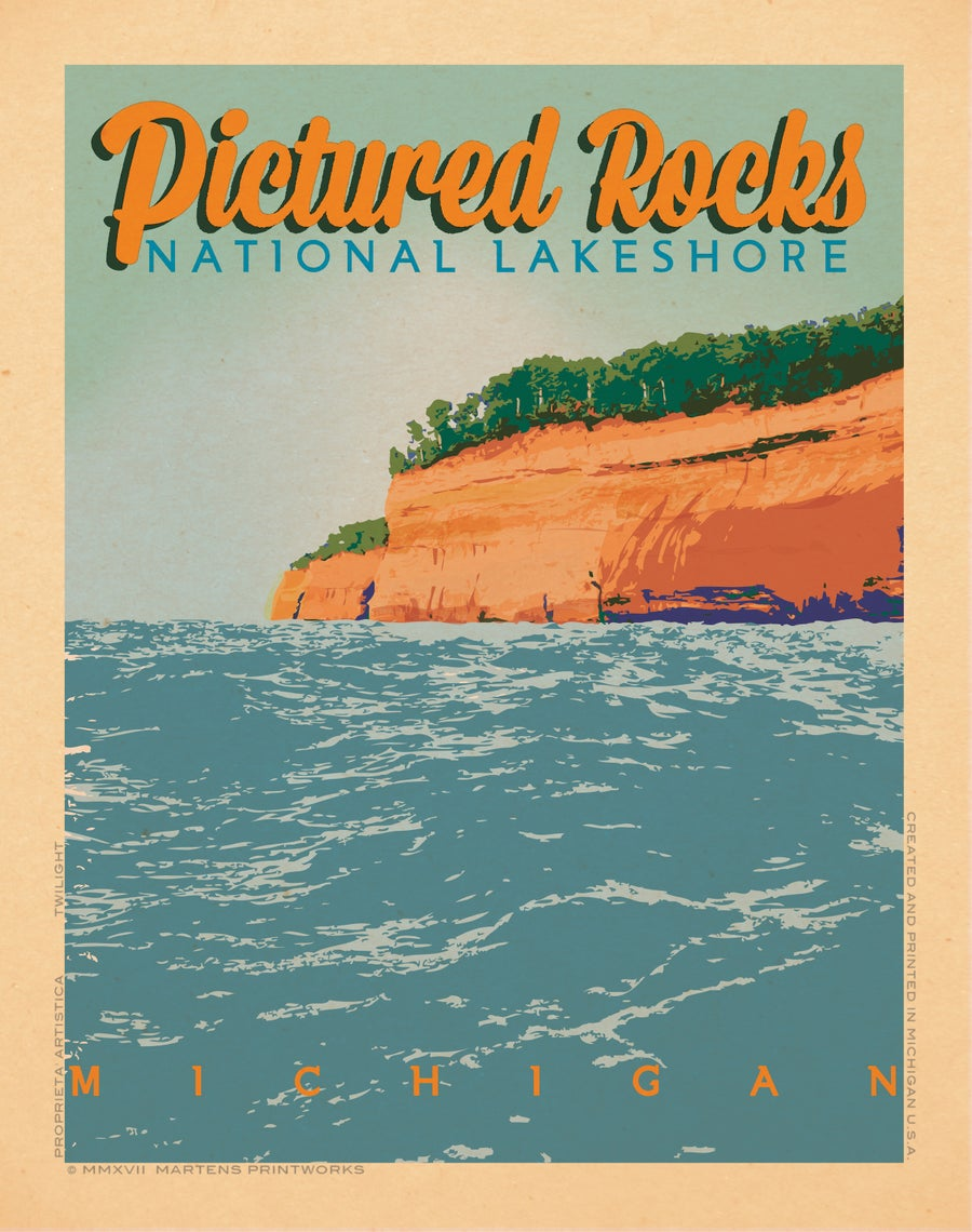 Image of Pictured Rocks at Pictured Rocks National Lake Shore 11x14 Print No. [073]