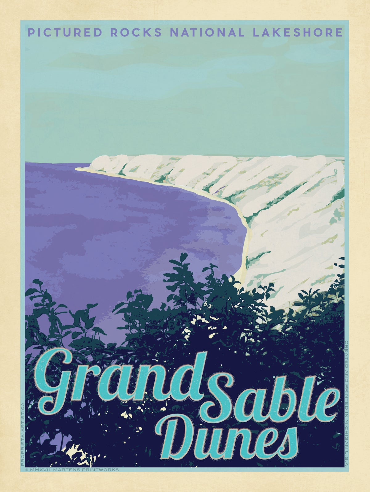 Image of Grand Sable Dunes, Pictured Rocks National Lake Shore 18x24 Print No. [072]