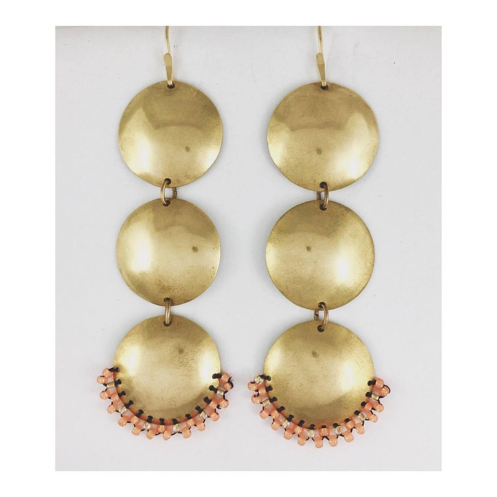Image of Brass Sunspot Earrings