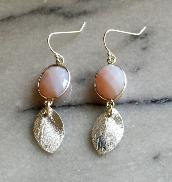 Image of Opal and Silver Drop Earrings