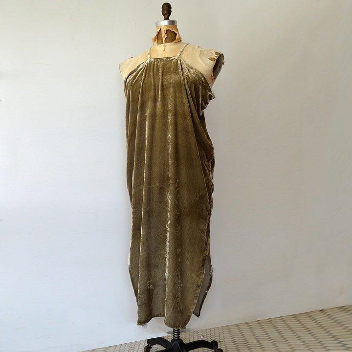 Image of logwood silk velvet dress