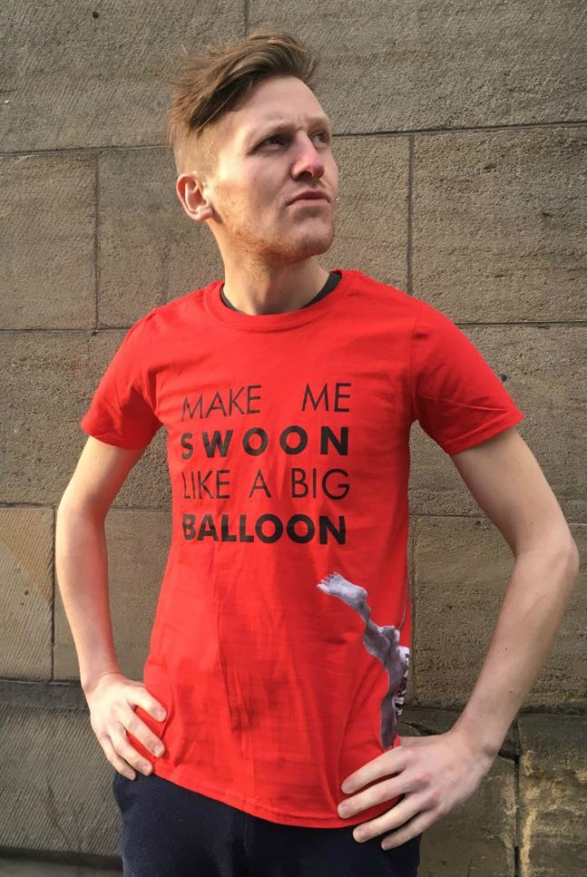 Image of Big Balloon Swoon T-Shirt - Red