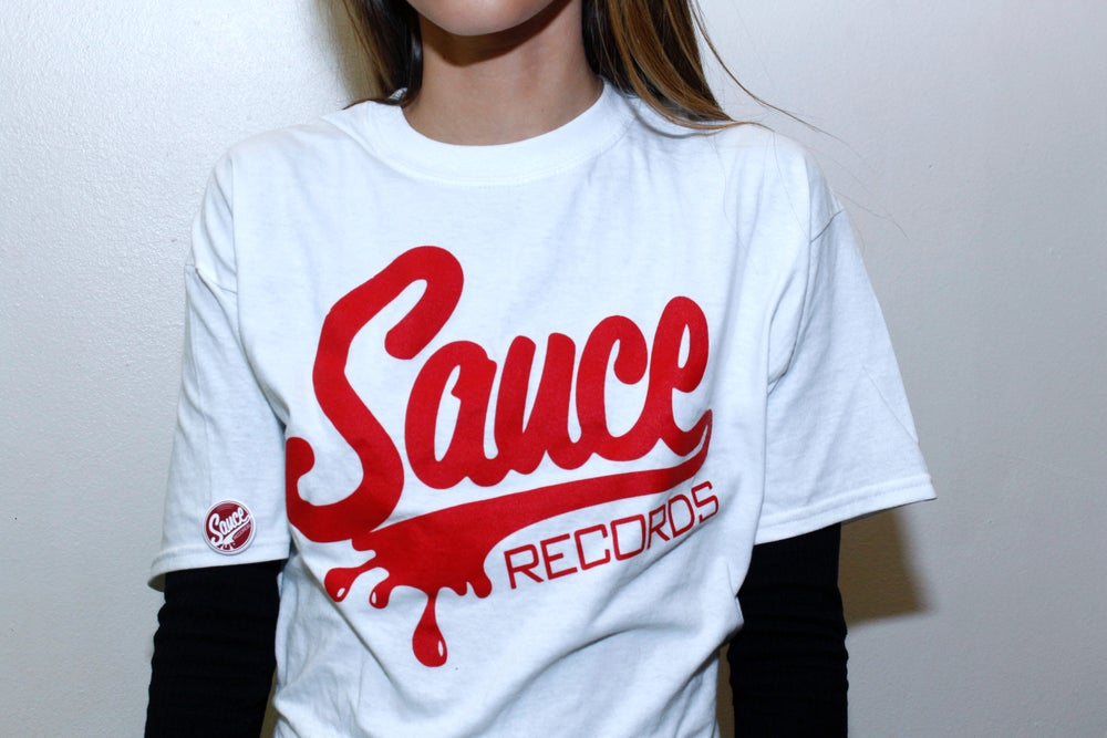 Image of White Classic Sauce Records Tee