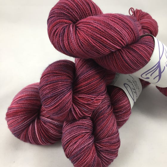 Image of Cran-Grape on Opulence MCN fingering, 600 yards, 150 grams!