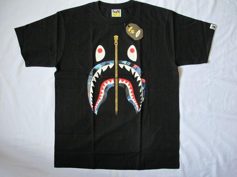 Image of A Bathing Ape (Bape) - SS Camo Shark (Black/Color)