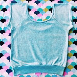 Image of Baeby Blue Crop |Vintage|
