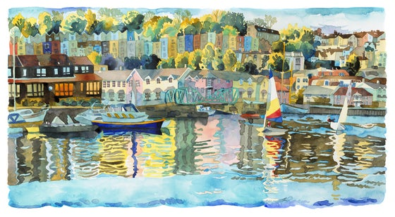 Image of Early Evening Boats, Hotwells