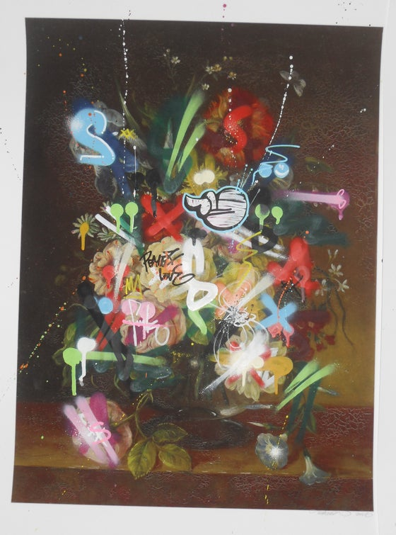 Image of MARTIN WHATSON - STILL LIFE 1 - UNIQUELY HAND FINISHED PRINT - 73CM X 58CM P/P