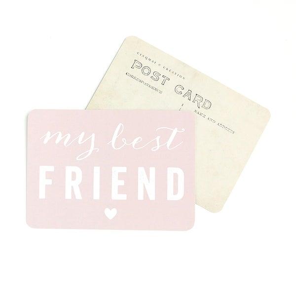 Image of Carte Postale MY BEST FRIEND / ROSE POUDRE