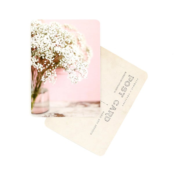Image of Carte Postale GYPSOPHILE / ROSE