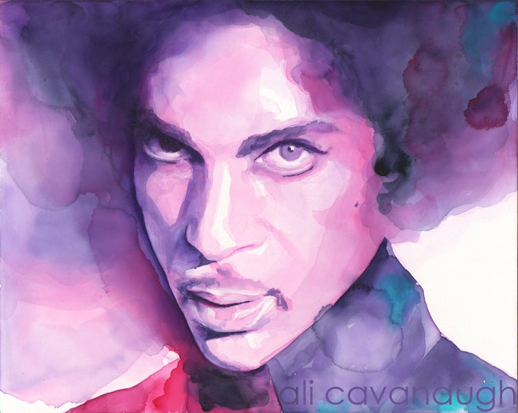 Image of Prince  14 x 17 inch signed print
