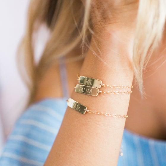 Image of Custom Bar Bracelet