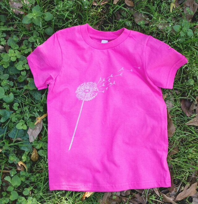 Image of Youth Dandelion Short Sleeve Tee in Hot Pink