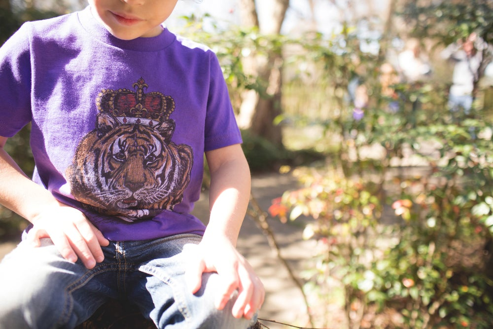 Image of Youth Louisiana King Cat Short Sleeve Tee