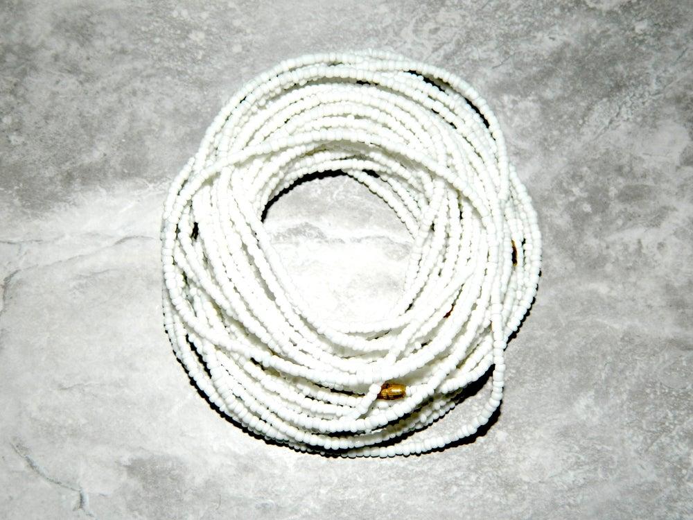 Image of White waist bead