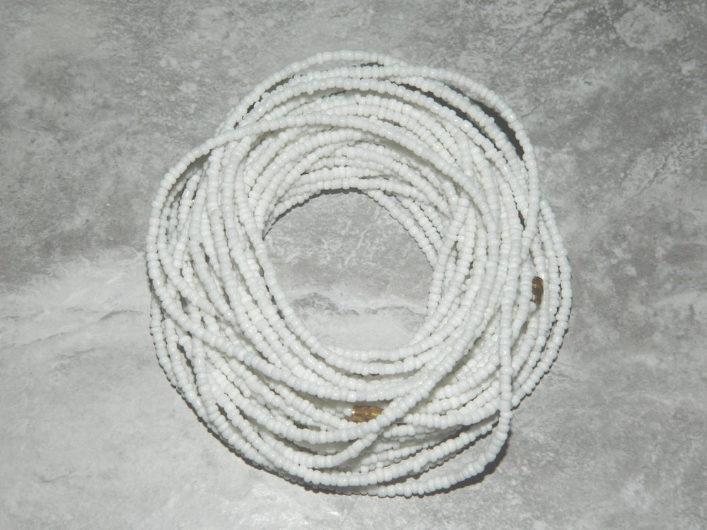 Image of White waist bead