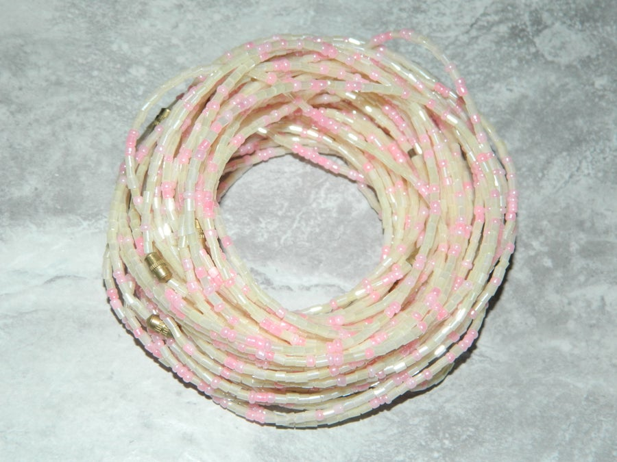 Image of Pearl and pink waist bead