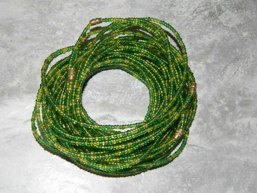 Image of Lime and green waist bead