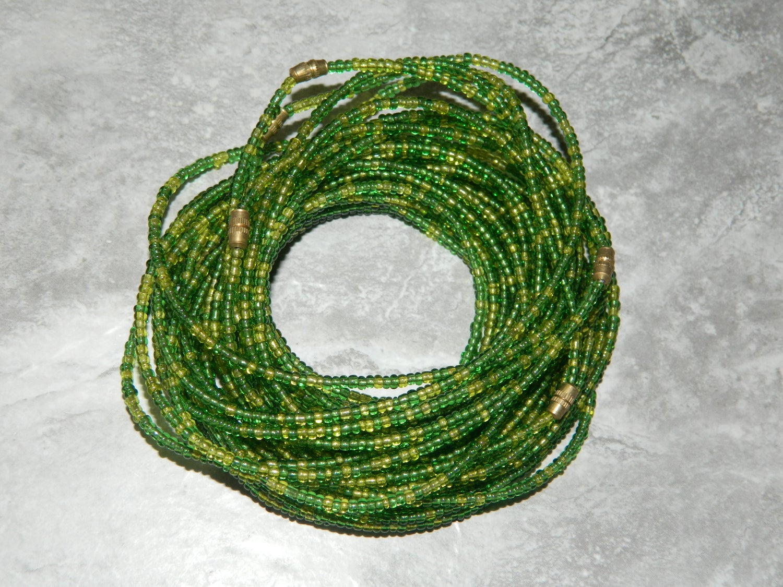 Image of Lime and green waist bead