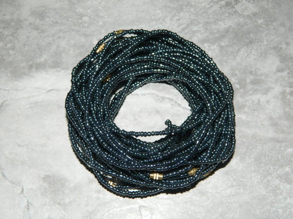 Image of Chrome gray waist bead