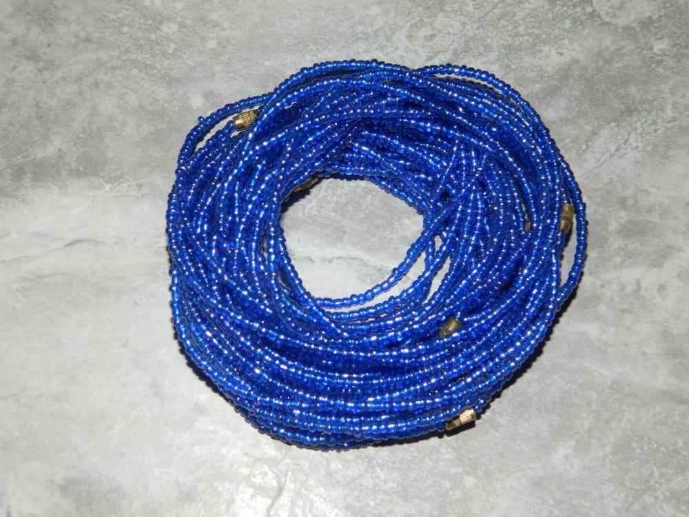 Image of Blue waist bead