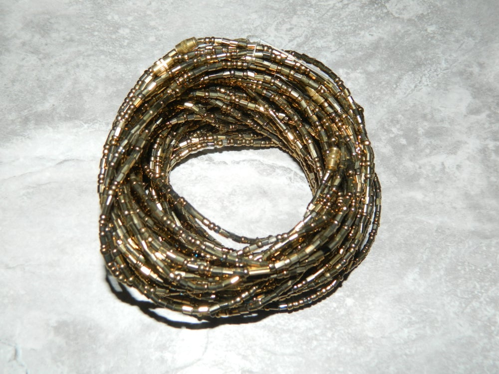 Image of Gold Jewel waist bead