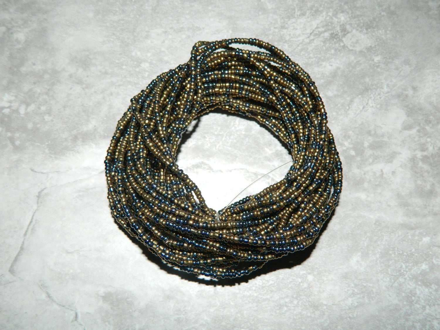 Image of Gold and chrome waist bead