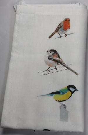 Image of Dickie Bird Tea Towel
