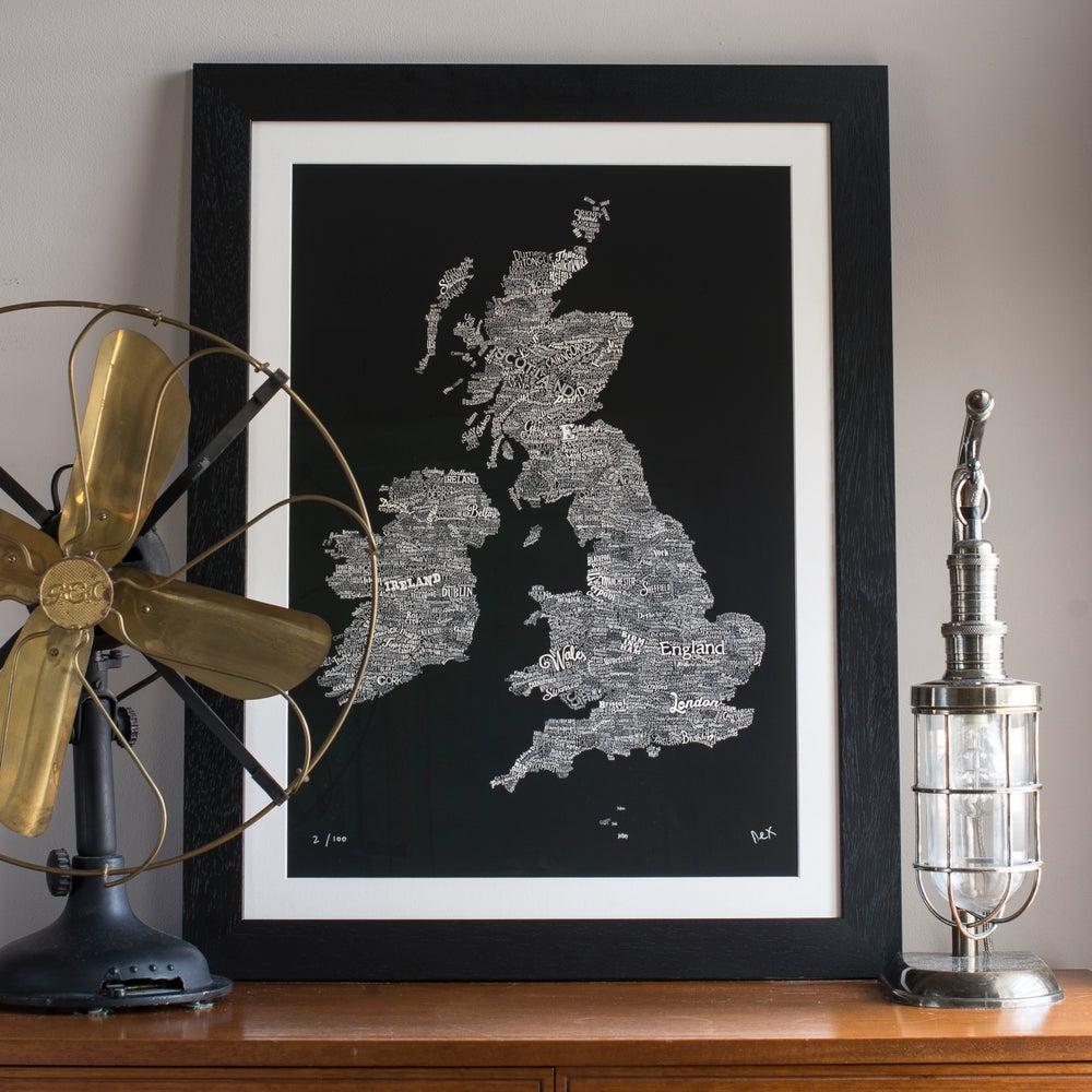 Image of Great British Type Map (Black, 2014)