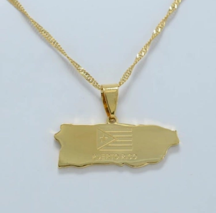 Image of Puerto Rico Map Neckalca
