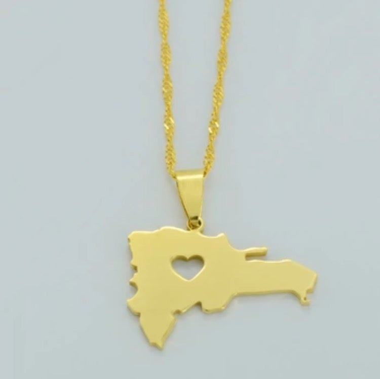 Image of Dominican Republic Map Necklace