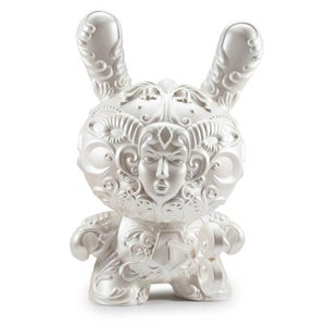 "Image of 20"" Pearl White Its a F.A.D Dunny signed by J*RYU"