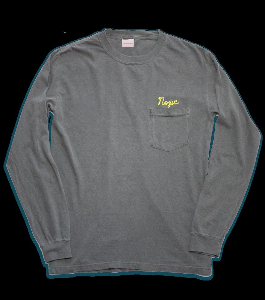 Image of Nope Long Sleeve T, Grey