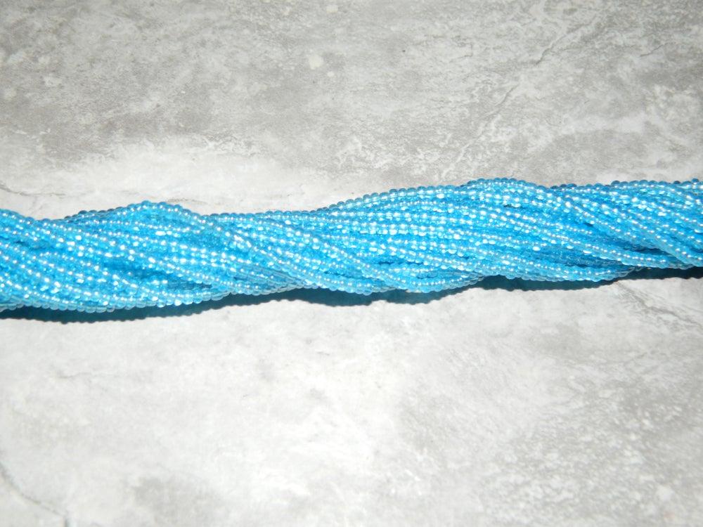 Image of Clear blue waist bead