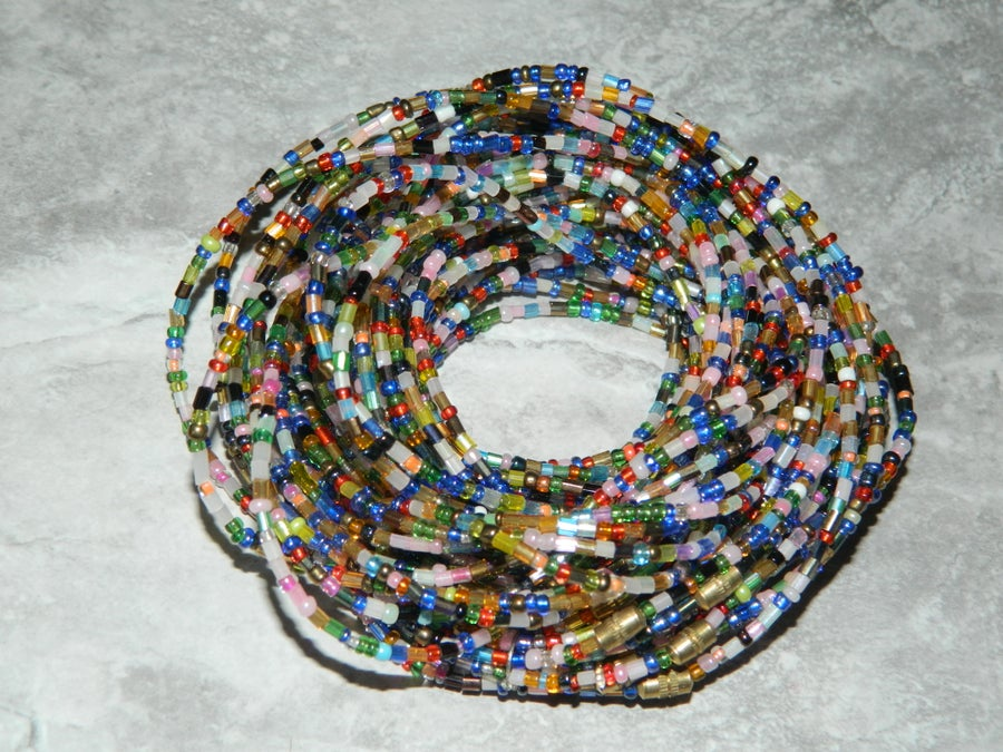 Image of Rainbow glass waist bead