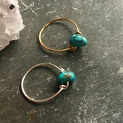 Image of Simple Turquoise Stone Ring - for friendship BACK IN STOCK