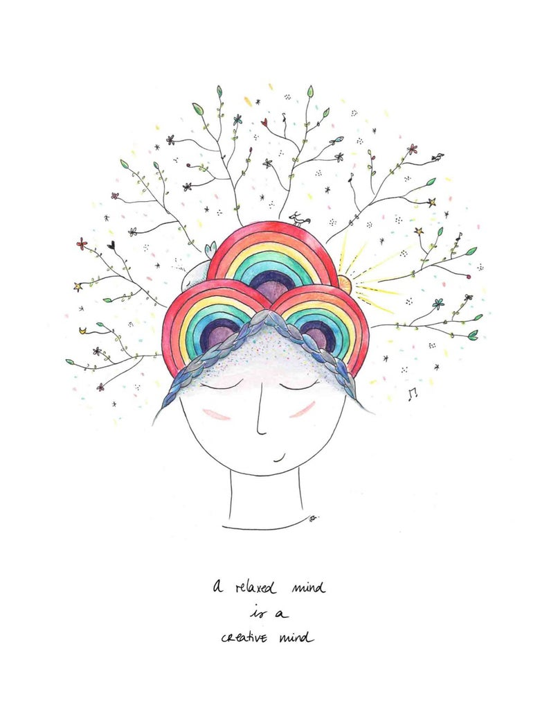 Image of A relaxed mind is a creative mind