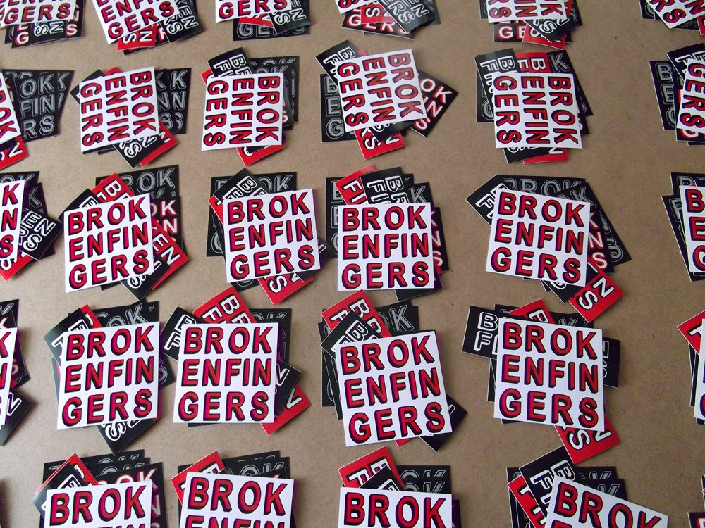 Image of Broken Fingers Sticker Pack!