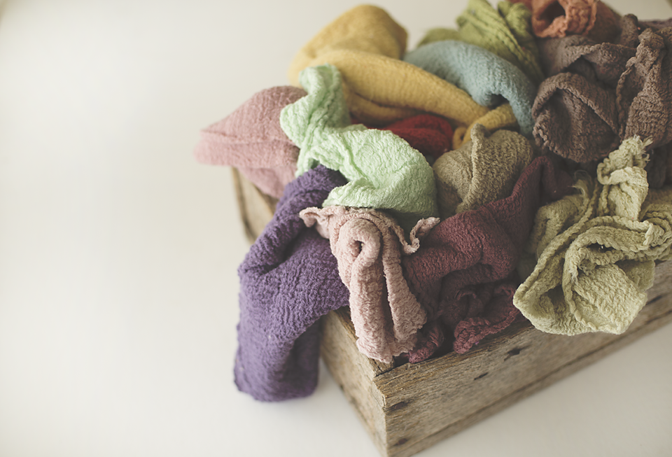 Image of Rustic Organic Cloths - CHOOSE 1 - Great For Newborn Wraps - Styling Cloths