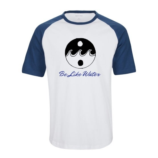 Image of Be Like Water Short Sleeve Colorblock Raglan Jersey (BLUE)